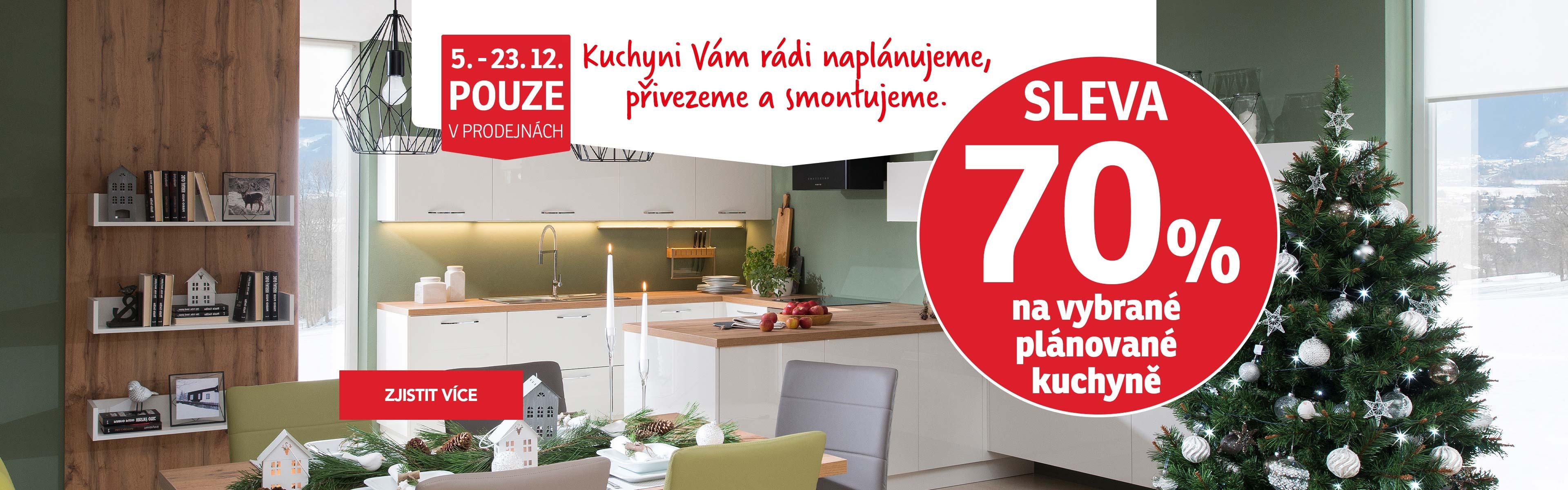 kuchyně-70% sleva na plánované